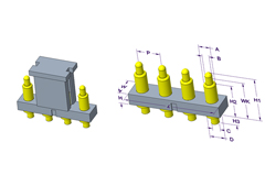 4P Pogo Pin 连接器