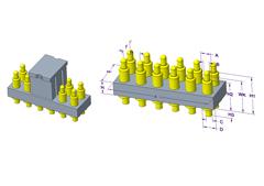 2x6P Pogo Pin连接器