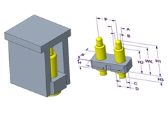 2P Pogo Pin连接器