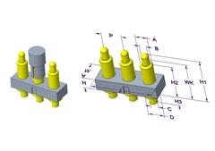 3P Pogo Pin 连接器