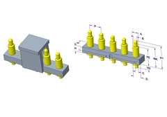 5P Pogo Pin 连接器