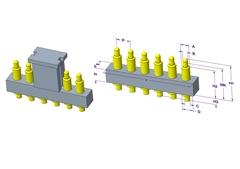 6P Pogo Pin 连接器