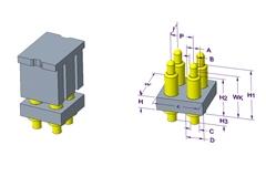 2x2P Pogo Pin 连接器