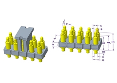 2x5P Pogo Pin连接器